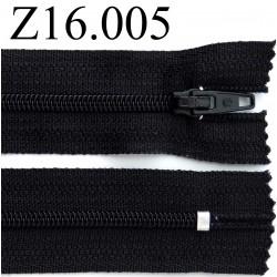 fermeture éclair longueur 16 cm couleur noir non séparable zip nylon largeur 2.5 cm