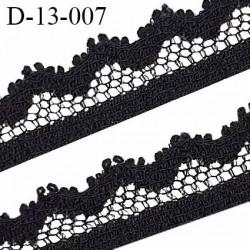 Dentelle 14 mm haut de gamme couleur noir largeur 14 mm prix au mètre