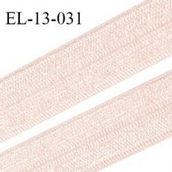 Elastique pré plié 13 mm lingerie couleur beige rosé brillant grande marque fabriqué en France  largeur 13 mm prix au mètre