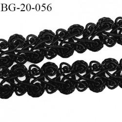 Galon ruban passementerie 20 mm synthétique très belle couleur noir lumineux  largeur 20 mm  prix au mètre