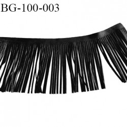galon frange 100 mm couleur noir façon cuir ou daim largeur 100 mm prix au mètre