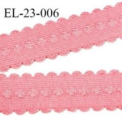 Elastique bretelle et lingerie 23 mm haut de gamme couleur rose fraise prix du mètre