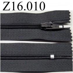 fermeture éclair longueur 16 cm couleur gris non séparable zip nylon largeur 2.5 cm