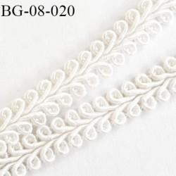 galon ruban rangé en serpentin couleur blanc largeur 8 mm  prix au mètre