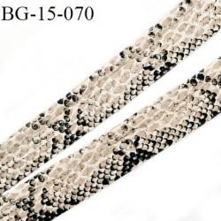 passepoil galon façon cuir  très agréable au touché largeur 15 mm couleur serpent brillant  prix au mètre