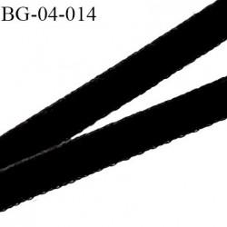 Galon ruban velours 4 mm lacette couleur noir souple et doux largeur 4 mm prix au mètre