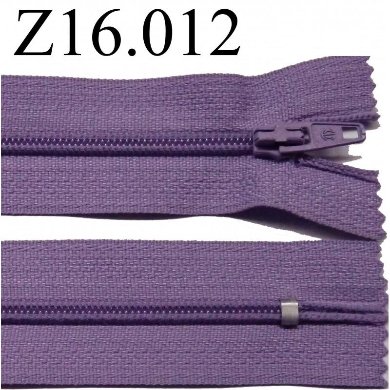 Fermeture zip glissi re longueur 16 cm couleur violet - Couleur violet clair ...