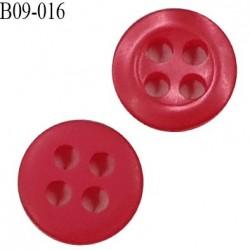 Bouton 9 mm haut de gamme couleur rouge 4 trous diamètre 9 mm épaisseur 2mm prix à l'unité
