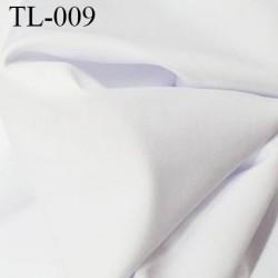 Tissu lycra élasthanne blanc très haut de gamme 240 gr au m2 largeur 150cm prix pour 10 cm de longueur et 154 cm de large