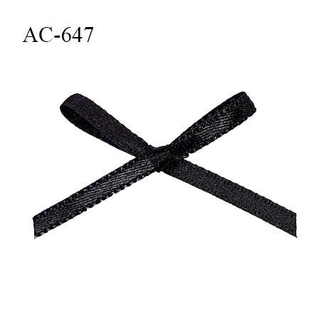 Noeud lingerie 38 mm satin haut de gamme couleur noir largeur 38 mm hauteur 20 mm prix à l'unité