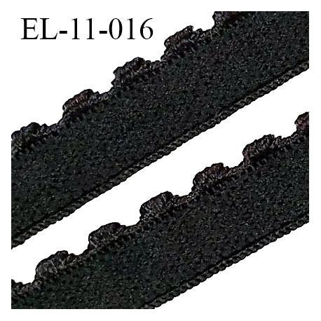 Elastique lingerie 11 mm haut de gamme couleur noir largeur 11 mm + picots 2 mm prix au mètre