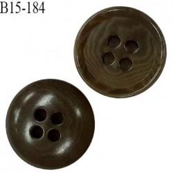 Bouton 15 mm haut de gamme couleur vert marbré 4 trous diamètre 15 mm épaisseur 3.5 mm prix à l'unité
