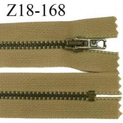 Fermeture zip très haut de gamme RIRI longueur 19 cm couleur kaki beige non séparable largeur 28 mm glissière laiton 6 mm