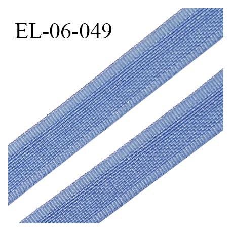 Elastique 6 mm fin spécial lingerie couleur bleu aigue marine grande marque fabriqué en France largeur 6 mm prix au mètre