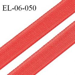 Elastique 6 mm fin spécial lingerie couleur rouge garance grande marque fabriqué en France largeur 6 mm prix au mètre