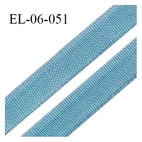 Elastique 6 mm fin spécial lingerie couleur bleu polaire grande marque fabriqué en France largeur 6 mm prix au mètre