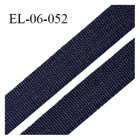 Elastique 6 mm fin spécial lingerie couleur bleu marine grande marque fabriqué en France largeur 6 mm prix au mètre