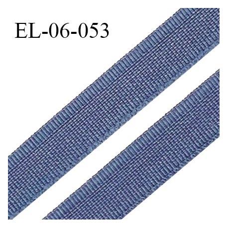 Elastique 6 mm fin spécial lingerie couleur encre bleue grande marque fabriqué en France largeur 6 mm prix au mètre
