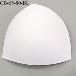 Coque triangle taille bonnet 65/80 couleur blanc haut de gamme prix à la pièce