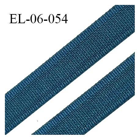 Elastique 6 mm fin spécial lingerie couleur fleur de lagune grande marque fabriqué en France largeur 6 mm prix au mètre