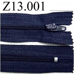 fermeture éclair longueur 13 cm couleur bleu foncé  non séparable zip nylon largeur 2.5 cm