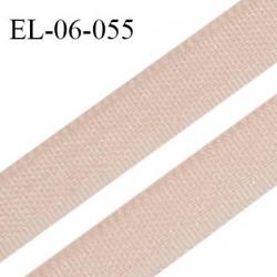 Elastique 6 mm fin spécial lingerie couleur champagne rosé grande marque fabriqué en France largeur 6 mm prix au mètre
