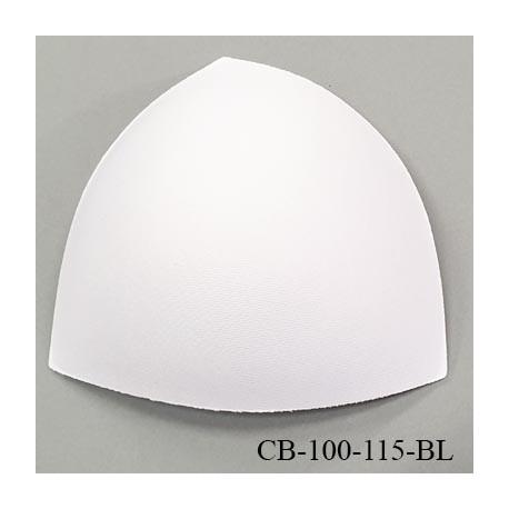 Coque triangle taille bonnet 100/115 couleur blanc haut de gamme prix à la pièce
