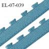 Elastique lingerie 7 mm très haut de gamme couleur bleu polaire largeur 7 mm + picots 2 mm prix au mètre