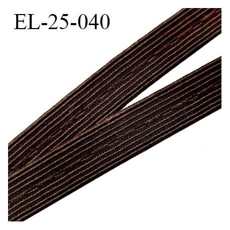 Elastique boutonnière 25 mm marron forte élasticité largeur 25 mm trou dans l'axe tout 11 mm Fabriqué en France prix au mètre