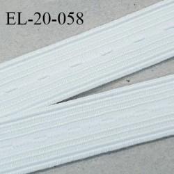 Elastique boutonnière 20 mm couleur naturel forte élasticité largeur 20 mm Fabriqué en France prix au mètre