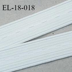 Elastique boutonnière 18 mm couleur naturel forte élasticité largeur 18 mm Fabriqué en France prix au mètre