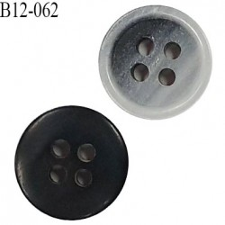 Bouton 12 mm couleur dégradé de gris et noir diamètre 12 mm épaisseur 2.5 mm prix à l'unité