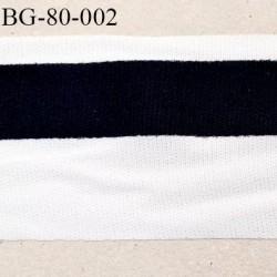 Galon renfort ganse largeur 83 mm légèrement extensible à plier galon noir collé sur l'autre haut de gamme prix au mètre