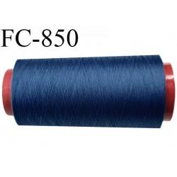 CONE de 5000 m de fil mousse polyamide fil n° 125 couleur bleu  longueur de 5000 mètres bobiné en France