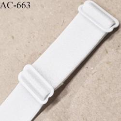 Bretelle 25 mm lingerie SG couleur blanc brillant très haut de gamme fabrication France longueur 32.5 cm prix à la pièce