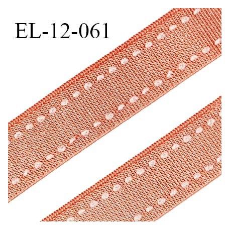 Elastique 12 mm lingerie haut de gamme couleur pêche melba satiné largeur 12 mm prix au mètre