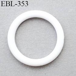 Anneau de réglage 12 mm en pvc couleur blanc diamètre intérieur 14 mm  diamètre extérieur 17.5 mm épaisseur 2 mm