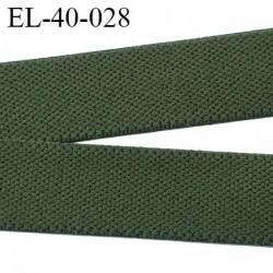 élastique 40 mm vert kaki spécial, sport  caleçon forte élasticité fabriqué en France agréable au touché prix au mètre