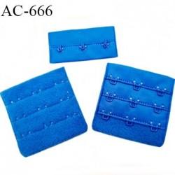 Agrafe attache 55 mm de sg 3 rangés 3 crochets largeur 55 mm hauteur 55 mm couleur bleu royal fabriqué en France