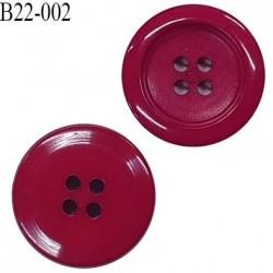 Bouton 22 mm en pvc 4 trous couleur rose fushia prix à l'unité