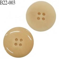 Bouton 22 mm en pvc 4 trous couleur beige diamètre 22 mm prix à l'unité