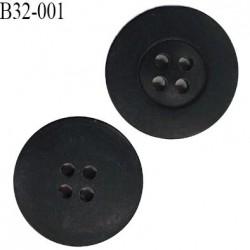 Bouton 32 mm couleur anthracite 4 trous diamètre 32 mm épaisseur 5 mm prix à l'unité