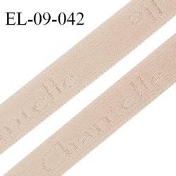 Elastique 9 mm lingerie haut de gamme couleur dune inscription Chantelle largeur 9 mm prix au mètre