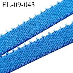 Elastique 9 mm picot lingerie haut de gamme couleur bleu roy Fabrication en France largeur 9 mm prix au mètre