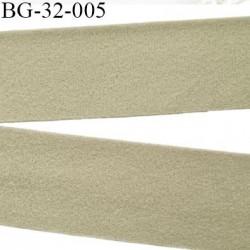 Droit fil a plat 32 mm spécial lingerie couleur gris kaki grande marque fabriqué en France agréable au touché prix au mètre