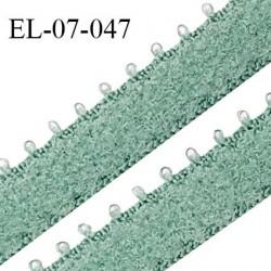 Elastique 7 mm bretelle et lingerie couleur vert laurier largeur 7 mm haut de gamme Fabriqué en France prix au mètre