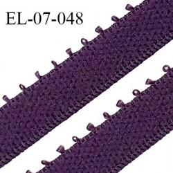 Elastique 7 mm bretelle et lingerie couleur violet largeur 7 mm haut de gamme Fabriqué en France prix au mètre