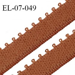 Elastique 7 mm bretelle et lingerie couleur terracotta largeur 7 mm haut de gamme Fabriqué en France prix au mètre