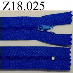 fermeture éclair longueur 18 cm couleur bleu non séparable zip nylon largeur 2.5 cm