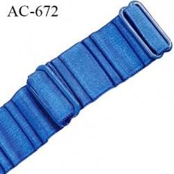 Bretelle 18 mm lingerie SG haut de gamme grande marque couleur bleu 2 barrettes largeur 18 mm longueur 37 cm prix à la pièce